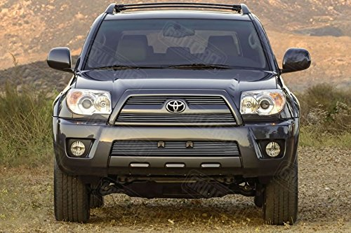 - Grillcraft TOY1902-BAO BG Series Polished Aluminum Upper 3pc Billet Grill Grille Insert for Toyota 4Runner