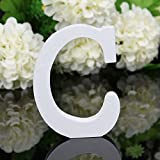 Totoo Decorative Wood Letters, Hanging Wall 26 Letters Wooden Alphabet Wall Letter for Children Baby Name Girls Bedroom Wedding Brithday Party Home Decor-Letters (C)