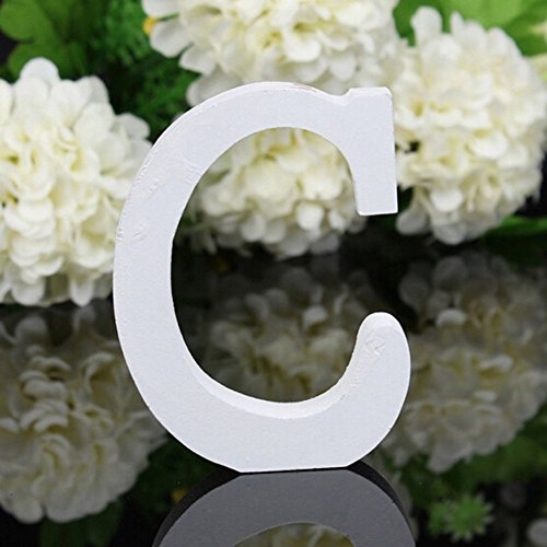 Decorative Wood Letters,Totoo Hanging Wall 26 Letters Wooden Alphabet Wall Letter for Children Baby Name Girls Bedroom Wedding Brithday Party Home Decor-Letters (C) 6 Letter Names