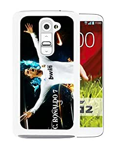 For LG G2,Soccer Player Cristiano Ronaldo 23 White Protective Case For LG G2