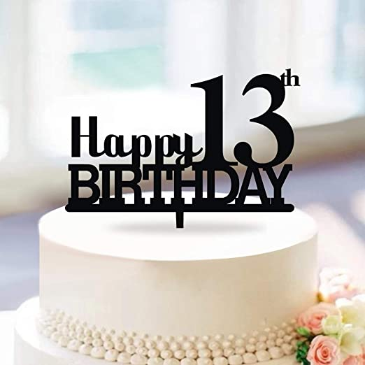 Magnificent Amazon Com Kiskistonite Happy 13Th Birthday Cake Topper Cheers Funny Birthday Cards Online Elaedamsfinfo