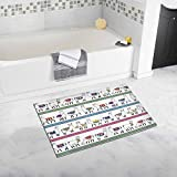 InterestPrint Lama Animal Bath Mat Soft Bathroom Rugs Non-slip Rubber 20W X 32L Inches
