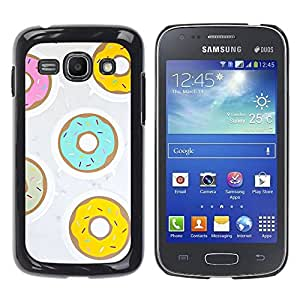 Paccase / SLIM PC / Aliminium Casa Carcasa Funda Case Cover para - Doughnut Yellow Teal Pink Pastry Sweet - Samsung Galaxy Ace 3 GT-S7270 GT-S7275 GT-S7272