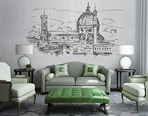 Florence Bedroom (ik2528 Wall Decal Sticker Florence Italy city view bedroom living room)