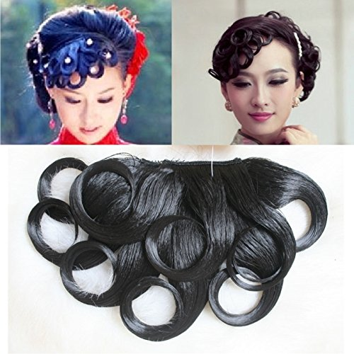 Made costume / wig hair - bangs / side bangs / fre dress retro snake demon of old Shanghai style wig