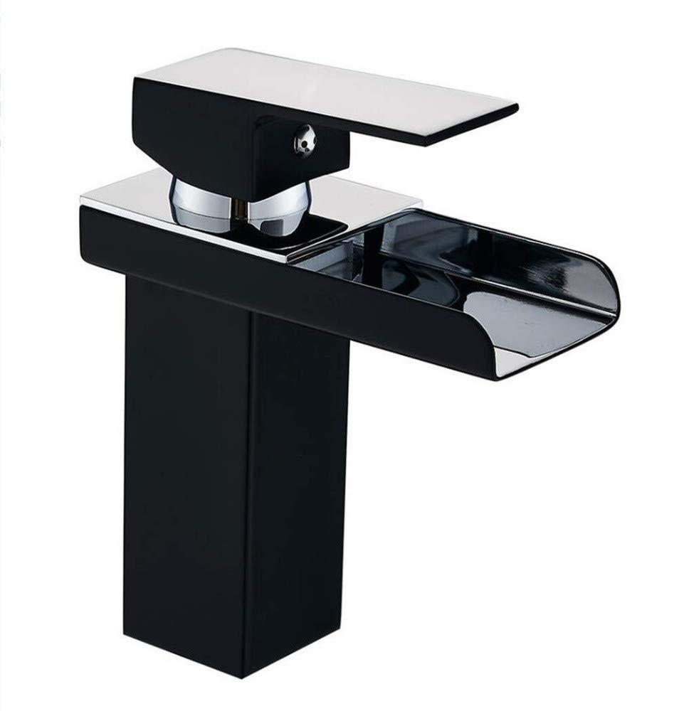 360 ° drehbare Wasserhahn Retro Wasserhahn Waschbecken Wasserfall Badezimmer Chrom Schwarz Waschbecken heiße kalte Mischer Wasserhähne