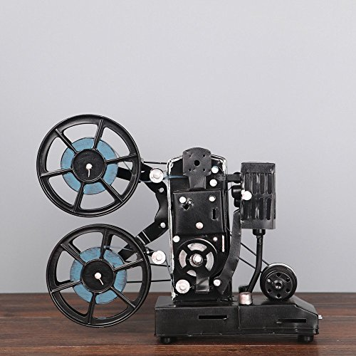 (1 PCS Vintage tin old movie projector model photography props American country living room tabletop crafts LU716107 (Color : Blue))