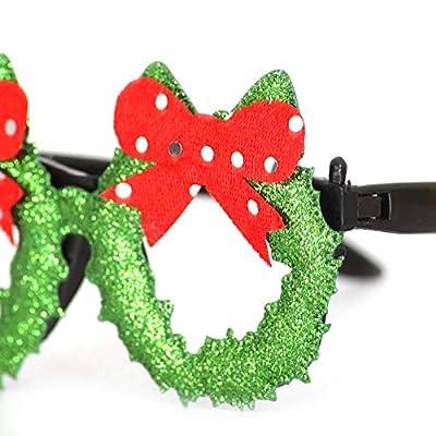 Musitelying Santa/Snowman Christmas Portable Comfortable Design Glasses, Cloth Durable Delicate Workmanship Birthday/Gift/Party Props Glasses Decor Eyewear