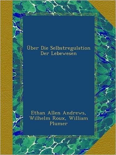 Book Über Die Selbstregulation Der Lebewesen