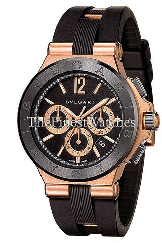 Automatic Chronograph Rose - New Mens Bvlgari Diagono 18K Rose Gold Automatic Chronograph Watch DGP42BGCVDCH