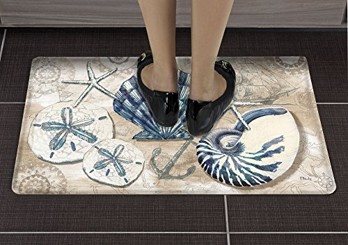 Gain Counter Art Anti Fatigue Floor Mat, Tide Pool Shells online