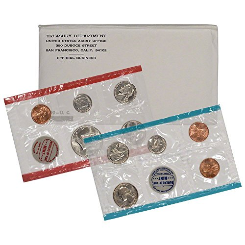 - 1969 Various Mint Marks United States Mint P&D 11-Coin Uncirculated Coin Set in Original Government Packaging Uncirculated