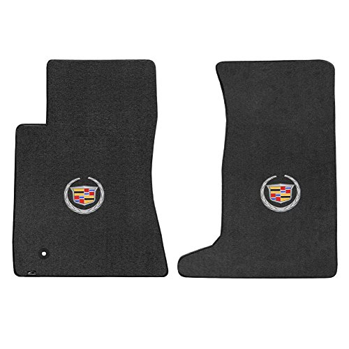 Lloyd Mats 2 Piece Velourtex Ebony Carpet Floor Mats w/Cadillac Logo for Cadillac CTS AWD Coupe (2011-2015)