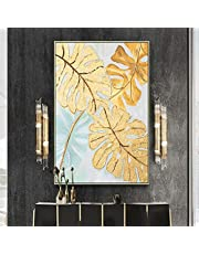 Blanriguelo Abstract Gold Leaf Wall Art Paintings On Canvas Posters And Prints Artwork Pictures Bedroom Living Room Home Decor