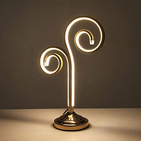 Lámpara de Mesa LED, lámpara de Mesa LED Regulable en Espiral ...