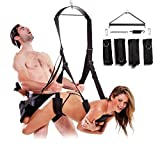 Lison Luxury Heavy Duty Indoor Swing with Steel Triangle Frame and Spring Sex Swing Furniture Restraints Indoor Fetish Bondage Fantasy Swings For Couples in Black