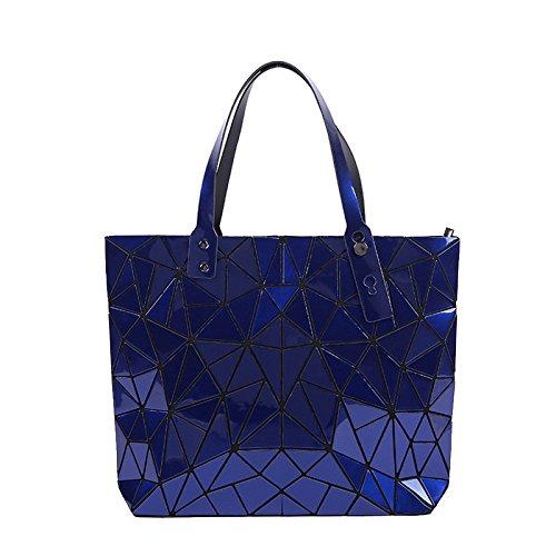 Spalla Blu Bag Tote Donne Di Sacchetto Modo Lingge Elaborazione Unità rTrqg7Fnz