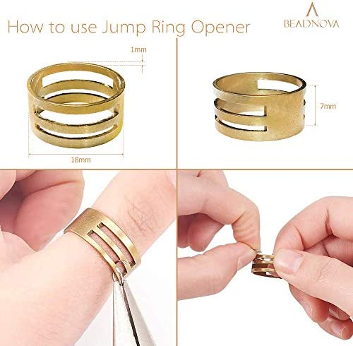 Crafts etc. Beading 250 x Gold Plated 8mm Open Jump Rings Findings Used for Jewellery Connectors Art