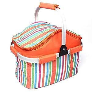 dxdesign 20L Capacidad Picnic Aislamiento cesta plegable multifunción Keep comida de hielo bolsas de frutas conducción alimentos bolsa de almacenamiento portátil barbacoa