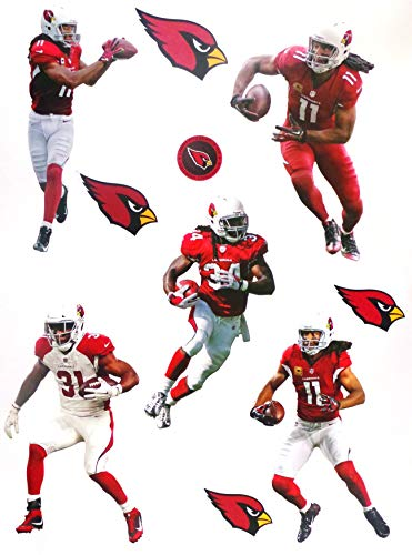 - Arizona Cardinals Mini FATHEAD Graphics Team Set 5 Players Peel and Stick Re-Usable and Removable Official NFL Vinyl Wall Graphics - Each Player 7