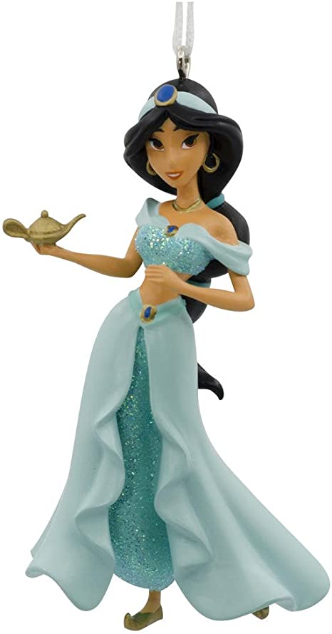 Disney Inspired Aladdin Princess Jasmine Wooden Magnet  Ornament