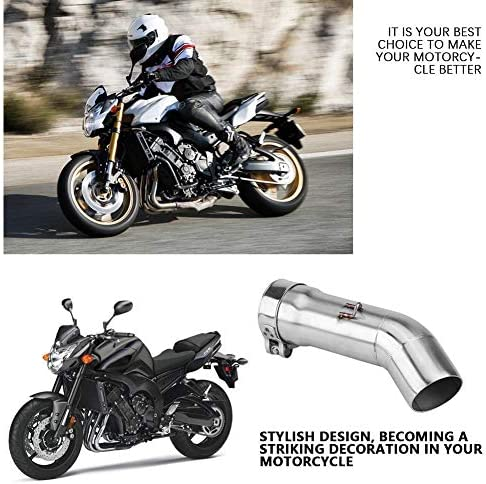 KSTE Motorrad-Auspuffanlage Mittelrohr Link-Connect for Yamaha FZ8 FZ8-N FZ8-S 2010-2013