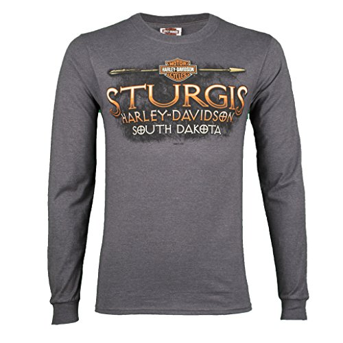 - Harley-Davidson Sturgis Men's Arrowhead Charcoal Long Sleeve Shirt (Large)