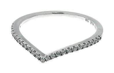 01e983388 Amazon.com: PANDORA Shimmering Wish Ring, Clear CZ 196316CZ-50 EU 5 ...