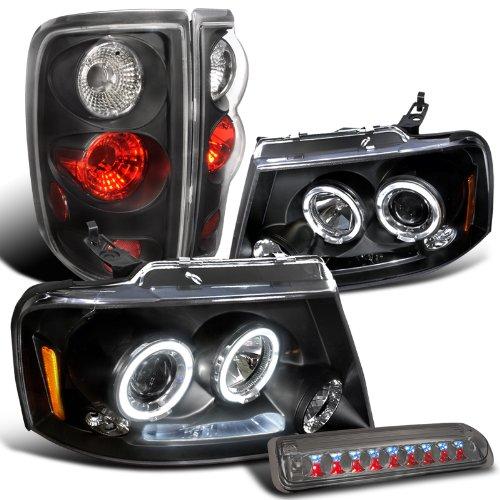 Black Headlights Lamps Smoke Third