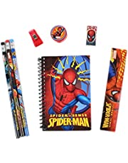 Officially Licensed Marvel 8 Piece Stationery Set - Spiderman
