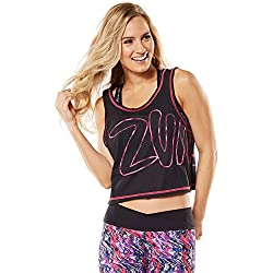 Zumba Women's Get Charged Up Tank Top, Gumball, X-Small