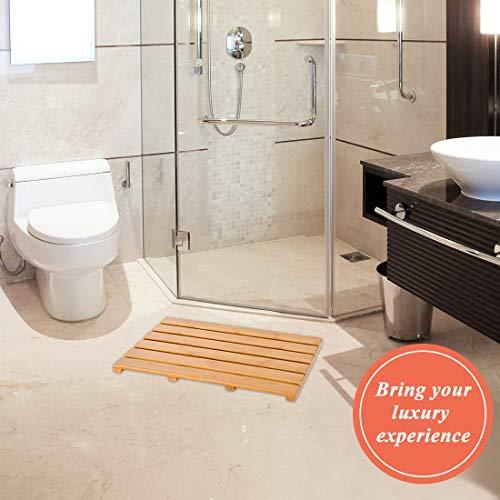 Non-slip bamboo bathroom carpet