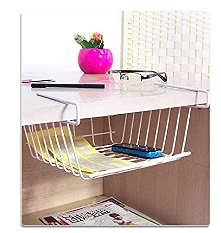 1pc Desktop Holder Wardrobe Storage Rack Shelf for Computer Desk Book Bookshelf Helper