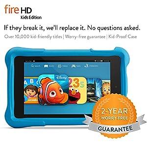 """Fire HD 6 Kids Edition Tablet, 6"""" HD Display, Wi-Fi, 8 GB, Blue Kid-Proof Case"""