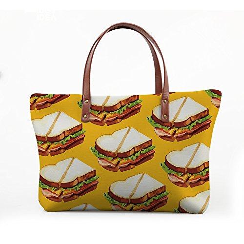 FancyPrint Handbags Foldable Purse Wallets Large Top Bags V6lcc4300al Handle Satchel Women rwq6rBf