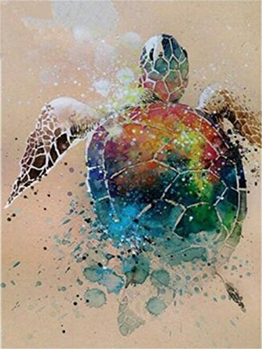- LIPHISFUN 5D DIY Diamond Painting Full Drill Square Resin Rhinestone Embroidery Unfinished Cross Stitch Home Decor Gift Turtle(30x40cm)