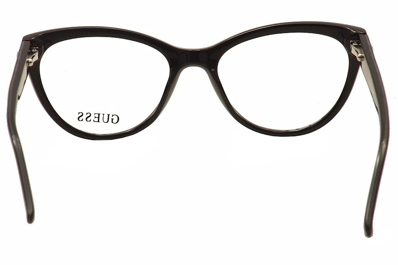 Guess Eyeglasses GU2554 GU/2554 005 Black/Bright Blue Cat Eye ...