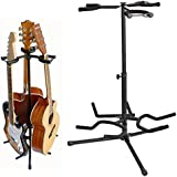 Coocheer Tripod Guitar Stand,Multi Guitar stands Adjustable suitable for Electric Bass Multiple guitar Stands,legs fold up/retract for compact portability