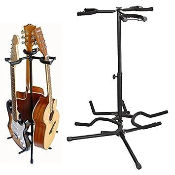 COOCHEER soporte para guitarra Triple trípode ajustable múltiples soporte de guitarra para guitarra acústica, guitarra clásica, guitarra eléctrica: ...