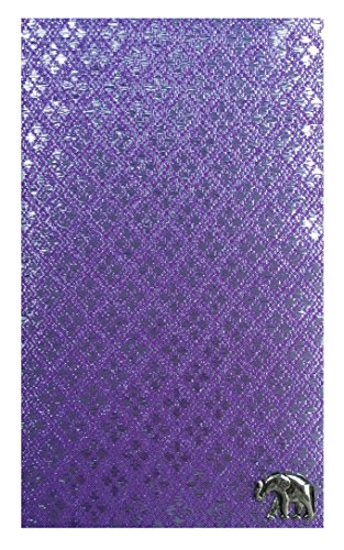 Light Purple Fabric Guest Check Presenter, Check Book Holder for Restaurant, Checkbook Cover, Check Pad Holder, Waitstaff Organizer, Server Book for Waiters with Money Pocket (With Plastic Cover) by Kathy
