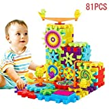 MyToy 81 Pieces Electric Gears 3D Puzzle Building Kits Plastic Bricks Educational Toys For Kids Children Gift Building Blocks Set for 3, 4 and 5+ Year Old Boys & Girls