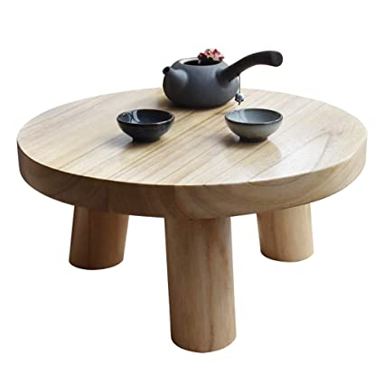 Superieur Wooden Mini Coffee Table Bay Window Tatami Simple Short End Table Round