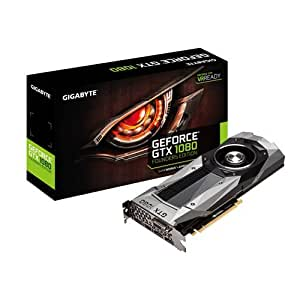 Gigabyte GeForce GTX 1080 Founders Edition - Tarjeta gráfica de 8 GB (GDDR5 X, PCI Express x16 3.0, 1733/1607 MHz, HDMI, DVI-D, DP1)