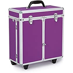 Top Performance Professional Tool Cases with Wheels - Durable and Versatile Cases Designed for the Storage of Grooming Tools and Supplies for the Professional Pet Groomer, Purple