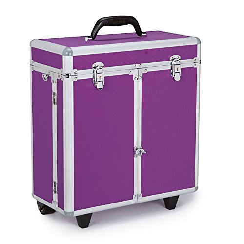 Top Performance Professional Tool Cases with Wheels - Durable and Versatile Cases Designed for the Storage of Grooming Tools and Supplies for the Professional Pet Groomer, Purple by Top Performance