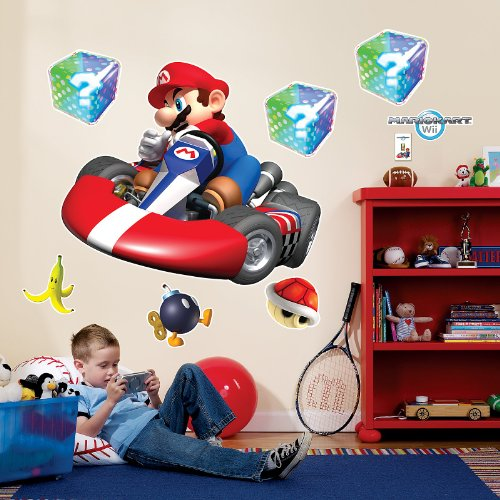 Super Mario Bros Kids Yoshi Accessory Kit (Mario Kart Wii Room Decor - Giant Wall Decals)