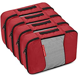 Gonex Packing Cubes Travel Organizer Cubes for Luggage 4xMedium Red