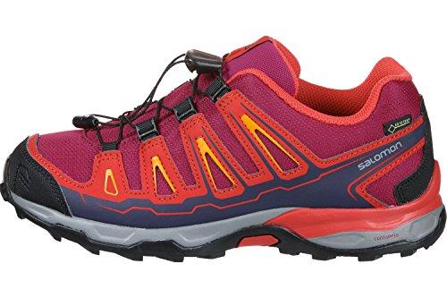 Salomon X-Ultra GTX J, Zapatillas de Senderismo Unisex Niños Rojo (Sangria/Poppy Red/Bright Marigold 000)