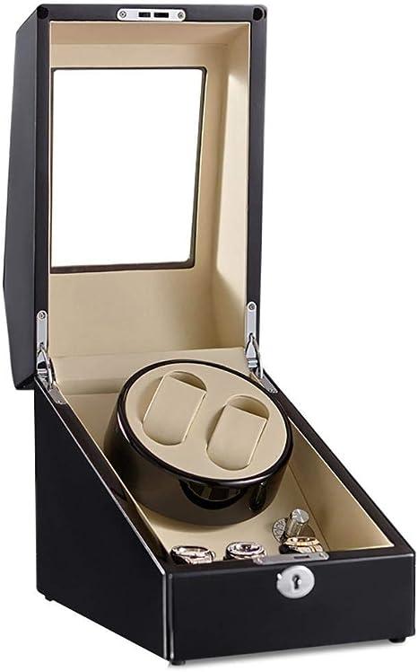 Audivik Caja Giratoria Reloj Automatico Bateriawatch Winder 2 Relojes Pilas de Madera Caja de Reloj Cajas de Relojes Cajas Giratorias Negro: Amazon.es: Deportes y aire libre
