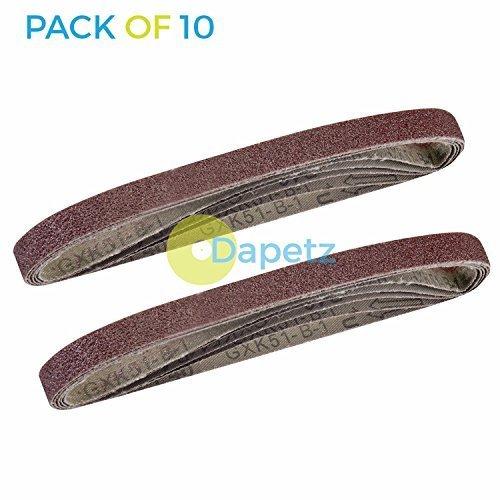 Dapetz ® Sanding Belts 40 Grit 10 Pack For 10mm X 330mm Sanders